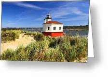 Coquille River Lighthouse Greeting Card by Joe Klune