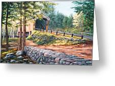 Corbin Covered Bridge Greeting Card by Elaine Farmer