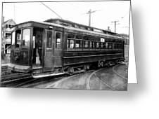 Corbin Park Street Car No. 175 - 1915 Greeting Card by Daniel Hagerman