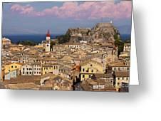 Corfu Town Greeting Card by Brian Jannsen