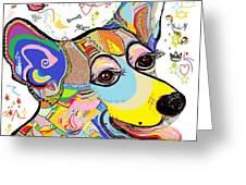 Corgi Cutie Greeting Card by Eloise Schneider