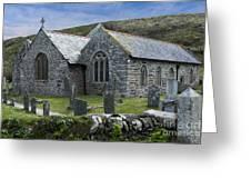 Cornish Seascape St Winwaloe Church Greeting Card by Brian Roscorla