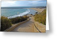 Corona Del Mar Beach View - 01 Greeting Card by Gregory Dyer