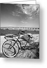 Coronado Bridge Bike Greeting Card by Peter Tellone