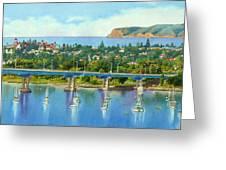 Coronado Island California Greeting Card by Mary Helmreich