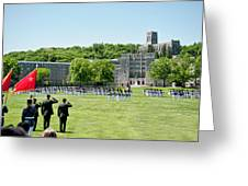 Corps Of Cadets Present Arms Greeting Card by Dan McManus