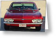 Corvair Greeting Card by Frozen in Time Fine Art Photography
