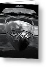 Corvette In Black And White Greeting Card by Bill Gallagher