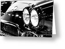 Corvette Picture - Black And White C1 First Generation Greeting Card by Paul Velgos