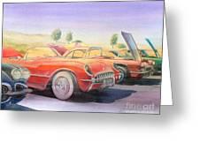 Corvette Show Greeting Card by Robert Hooper