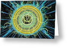 Cosmic Circle Fusion Greeting Card by Shawn Dall