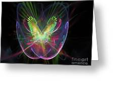 Cosmic Flight Greeting Card by Peter R Nicholls