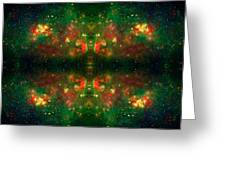 Cosmic Kaleidoscope 3 Greeting Card by The  Vault - Jennifer Rondinelli Reilly