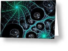 Cosmic Web Greeting Card by Anastasiya Malakhova