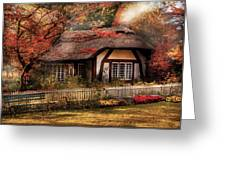Cottage - Nana's House Greeting Card by Mike Savad