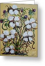 Cotton #2 - Cotton Bolls Greeting Card by Eloise Schneider