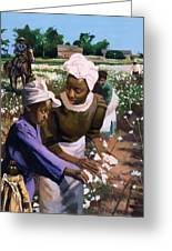 Cotton Pickers Greeting Card by Colin Bootman