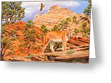 Cougar - Don't Move Greeting Card by Crista Forest
