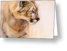 Cougar On The Prowl Greeting Card by Bonnie Rinier