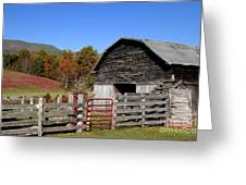 Country Barn Greeting Card by Jeff McJunkin