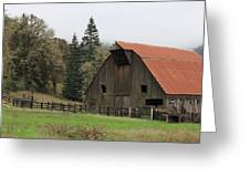 Country Barn Greeting Card by Katie Wing Vigil