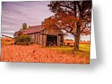 Country Barn Greeting Card by Mary Timman