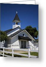 Country Church Greeting Card by Dee  Savage