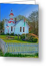 Country Church In Oysterville Wa Greeting Card by Valerie Garner