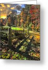 Country Dawn Greeting Card by Debra and Dave Vanderlaan