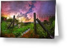 Country Garden Greeting Card by Debra and Dave Vanderlaan