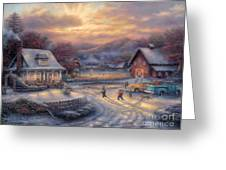 Country Holidays Greeting Card by Chuck Pinson