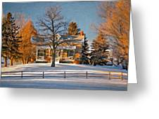 Country Home Oil Greeting Card by Steve Harrington