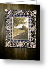 Country Lane Reflected In Mirror Greeting Card by Amanda And Christopher Elwell