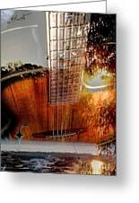 Country Music Digital Guitar Art By Steven Langston Greeting Card by Steven Lebron Langston