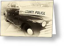 Country Police Antique Toned Greeting Card by John Rizzuto
