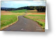 Country Road In France Greeting Card by Olivier Le Queinec