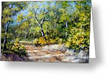 Country Road Greeting Card by Virginia Potter