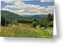 Country Roads Take Me Home Greeting Card by Lara Ellis