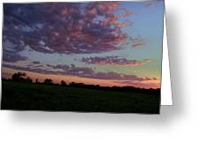 Country Sky Greeting Card by Jame Hayes
