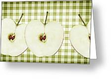 Country Style Apple Slices Greeting Card by Natalie Kinnear