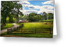 Country - The Pasture  Greeting Card by Mike Savad
