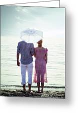 Couple On The Beach Greeting Card by Joana Kruse