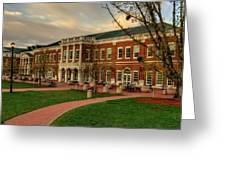 Courtyard Dining Hall - WCU Greeting Card by Greg and Chrystal Mimbs