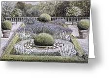 Courtyard Garden Greeting Card by Ariel Luke