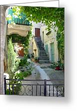 Courtyard Greeting Card by Lauren Leigh Hunter Fine Art Photography