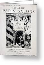 Cover For Art At The Paris Salons Greeting Card by English School