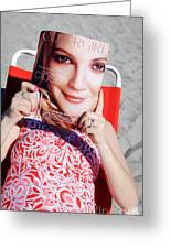 Cover Girl Greeting Card by Edward Fielding