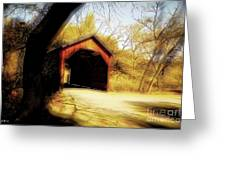 Covered Bridge 2 Greeting Card by Cheryl Young
