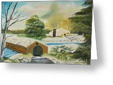 Covered Bridge Greeting Card by Edward C Van Wicklen Sr