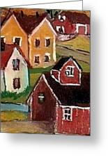 Covered Bridge Greeting Card by MarLa Hoover